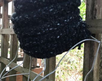 Oregon Obsidian Ribbed Seed Stitch Cowl Knitting Pattern