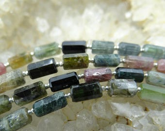 Multi Colored Tourmaline | Faceted Barrels Tubes | 8x5mm | Sets of 8, Sets of 9