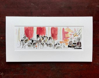 Jazz Band Watercolor Painting