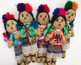 Mexican doll, Rag doll, Handmade doll, Cloth doll, Art doll, Authentic mexican doll, Fiesta decoration, Mexican party decor