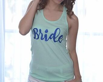 Personalized Tank Top Shirts. Bridal Party Tank Top. Bride Shirt, Bridesmaid Tanktops, Bachelorette Party Shirts, Bridesmaid Tanks