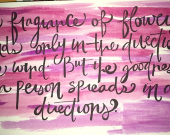 Personalized Watercolor Calligraphy