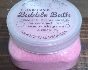 Cotton Candy Handmade Bubble Baths - One 4oz. Jar