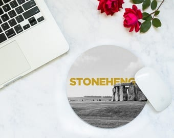 Coworker Gift Desk - Desk Accessories Men - Christmas Traveler - Stonehenge - Mousepad - New Job Gift - Cubicle Decor - Tech Accessories