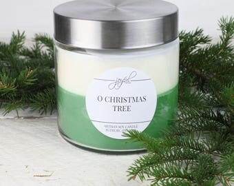 Soy Candle - Evergreen Tree  | Mason Jar Candles | Evergreen Tree Scented | Container Candle | Homemade Candles | Scented Soy Candle |  24oz
