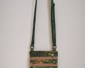 Small Cross Body Purse Floral Fields of Daisies Crossbody Bag Boho Shoulder Purse Nature Lover Ecology