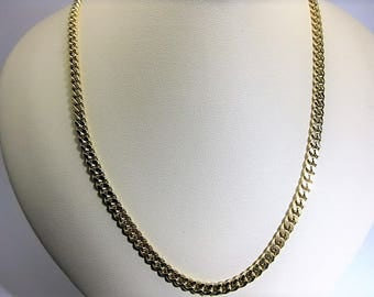 14 K Yellow Gold Cuban Link Chain 20 inches