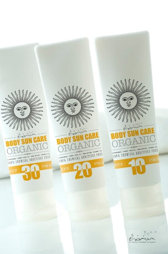 BODY SUN CARE • Organic Body Sunscreen formula that protects, hydrates and promotes tanning.