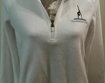 Embroidered Gymnastics 1/4 Zip-Up Sweatshirt - Small