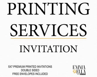 Print Service for 5x7 invitations