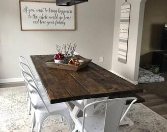 farmhouse table rustic farm table large farm table dining room table farm