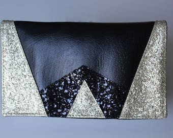 Checkbook black and gold glitter graphic