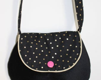 Small fancy bag for girl black and gold