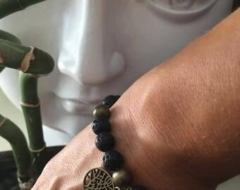 Aromatic black lava bracelet