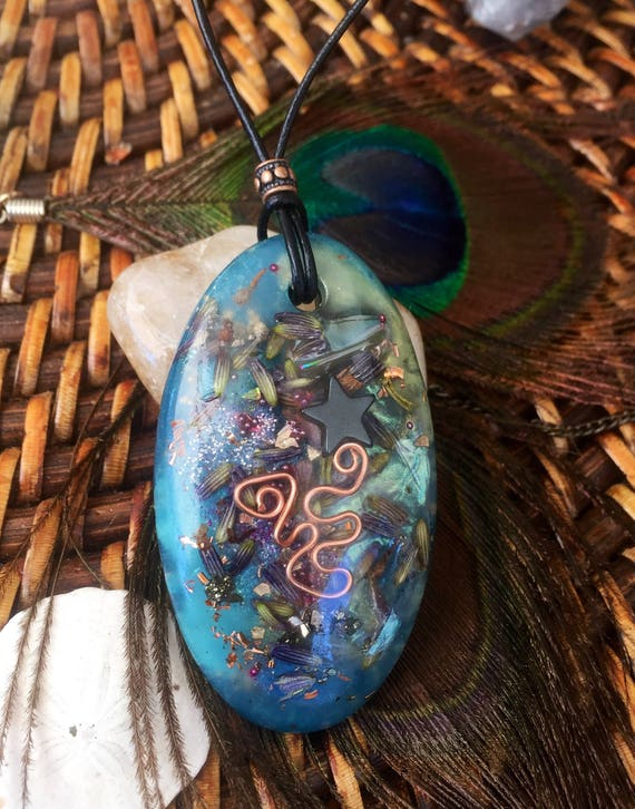 Fairy Gift Orgonite Pendant Butterfly Wing Orgonite® Pendant- For Mental Clarity Calm & Fairy Vision- See With Your Heart- Orgone Love