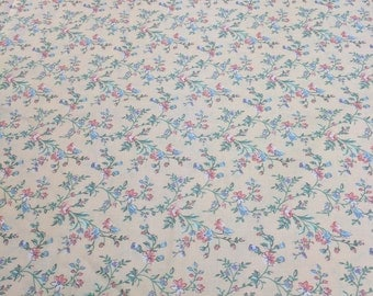 Flowers on Peach Cotton Fabric