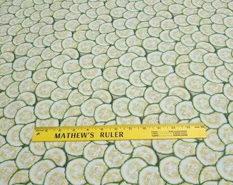 Farmer's Market-Cucumber Slices Cotton Fabric from RJR Fabrics