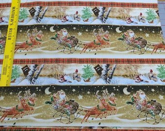 Old World Christmas Striped Cotton Fabric from SPX Fabrics