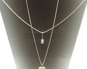 Two Sterling Necklaces
