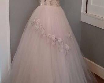 40s/50s Beaded Debutante Gown