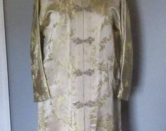 60s Champagne Silk Brocade Dynasty Jacket