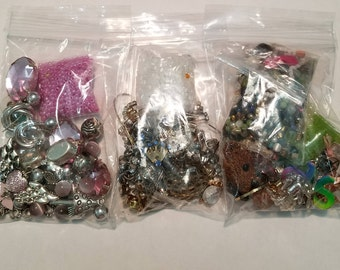 Salvage and destash jewelry supplies for crafting or scrapbooking