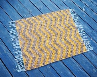 vintage rag rug wool rug small rug accent rug rag rug