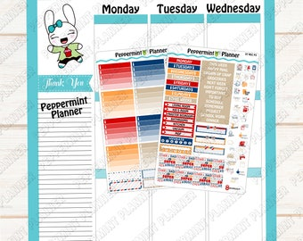 Father's Day Weekly Kit --- Planner Stickers --- Will Fit the Mini Recollection Planner --- A La Carte --- MREC07