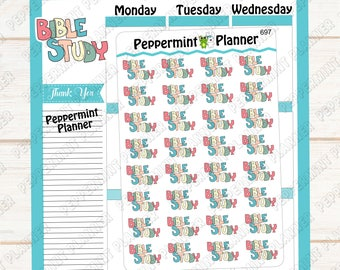 Bible Study --- Planner Stickers --- 697
