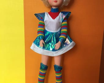 Vintage Fleur Doll (Colour Star) By the Otto Simon company Made in Holland 70s and 80s Sindy Short and Curly Hair Colorful Highlight
