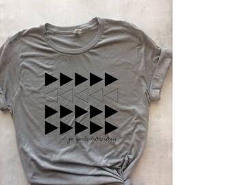 go your own way t-shirt, graphic t-shirt, girl power shirt, do you shirt, graphic tee, workout shirt, inspirational shirt, gym shirt