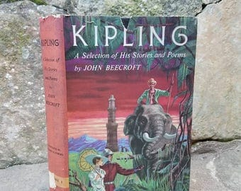 Kipling, A Selection of His Stories and Poems. By John Beecroft. Classics/writing/literature. Gifts/Collections/Poems/Vintage Books/Books