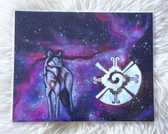 Cosmic Wolf // 11x14 Giclee Reproduction