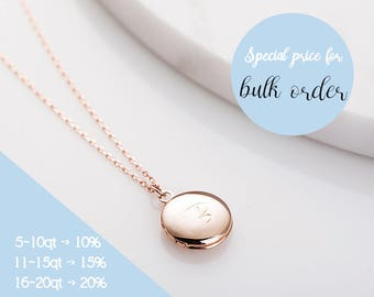 Personalized Round Locket, Personalized Locket Necklace, Engraved Mini Locket, Personalized Gift, Locket Necklace, Bridesmaid