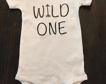 Wild One, Arrow, First Birthday, Girl, Boy, Birthday, T-Shirt