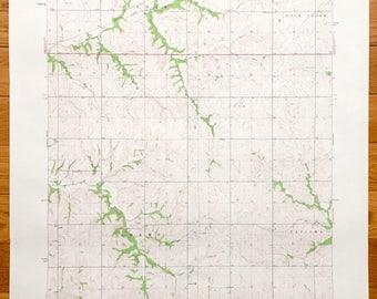 Antique Oneida Kansas 1961 Us Geological Survey Topographic Map Gilman Rock Creek