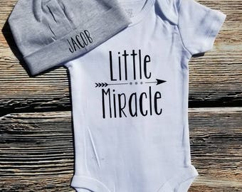 Miracle Baby bodysuit, Little Miracle bodysuit, Personalized bodysuit