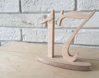 NOT PAINTED Table numbers, diy table numbers wedding reception, wooden table numbers