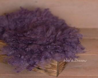 RTS Lavender Purple Felted Fur Fluffy Photography Prop Newborn