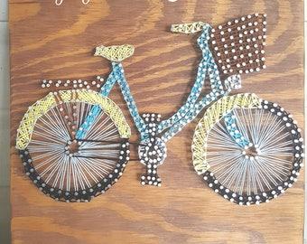 Beach Cruiser String Art- Bicycle String Art- Bike String Art- Bike Decor- Bicycle Decor- String Art- String Art Sign-Nail String Art