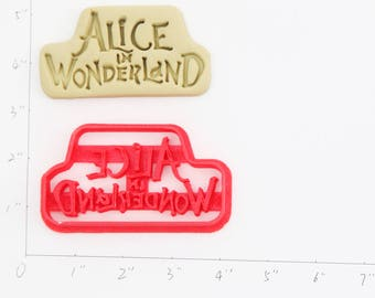 Alice In Wonderland Cookie Cutter Alice In Wonderland Birthday Alice In Wonderland  Party Alice In Wonderland  Baby Show Alice