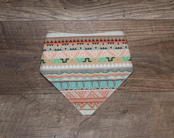 Bandana Bib | Tribal | Bibdana | Teething | Baby | Unisex | Drool Bib | Kenton Creations | Perfect Gift | Handmade in Canada