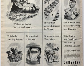 1943 Chrysler Ad from LIFE magazine
