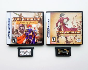 Fire Emblem Sword of Seals (Binding Blade) & Last Promise (Game + Case)  GBA Game Boy Advance English Fan Translation (Cart + Box)