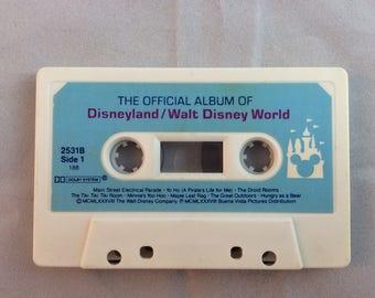 The Official Album of Disneyland/Walt Disney World Cassette Tape - 1988