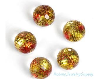 10 pcs - Resin Cabochons - 8mm Cabochons - Glitter Cabochons - Round Cabochons - Craft Cabochons - Jewelry Cabochons - F0101