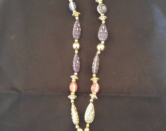 Mardi Gras Jester Bead Necklace