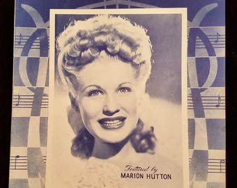 My Dreams Are Getting Better All The Time Sheet Music 1944 Marion Hutton Jazz