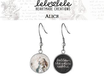 Earrings with Mad Hatter pendant  - Alice in Wonderland Collection