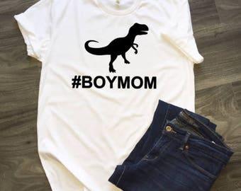 Boy Mom TRex T-Shirt